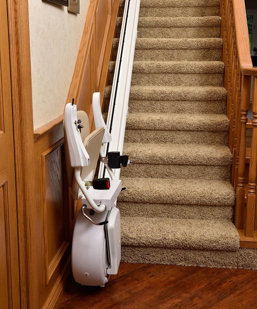 Savaria K2 Stairlift folded